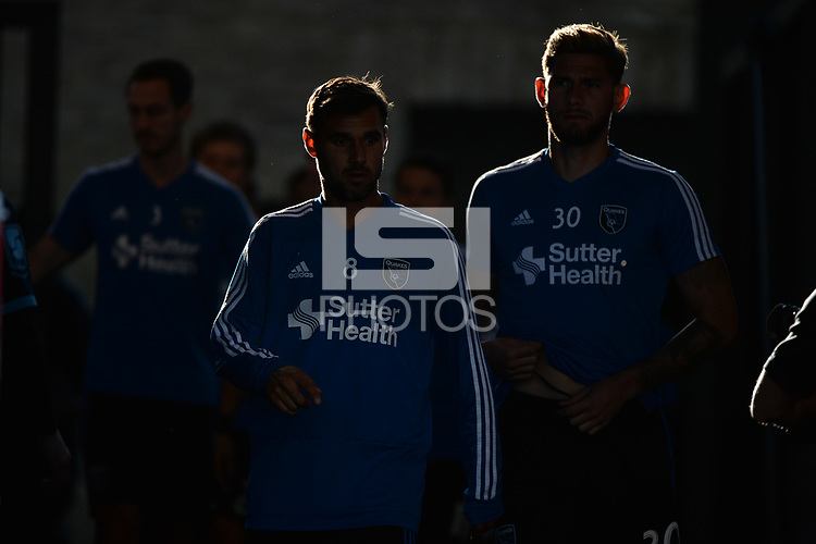 San Jose, CA - Wednesday June 13, 2018: Chris Wondolowski prior to a Major League Soccer (MLS) match between the San Jose Earthquakes and the New England Revolution at Avaya Stadium.