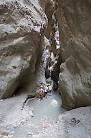 Turkey, Province Mugla, near Fethiye: Saklikent Gorge and river Xanthos | Tuerkei, Provinz Mugla, bei Fethiye: Saklikent Schlucht und Fluss Xanthos