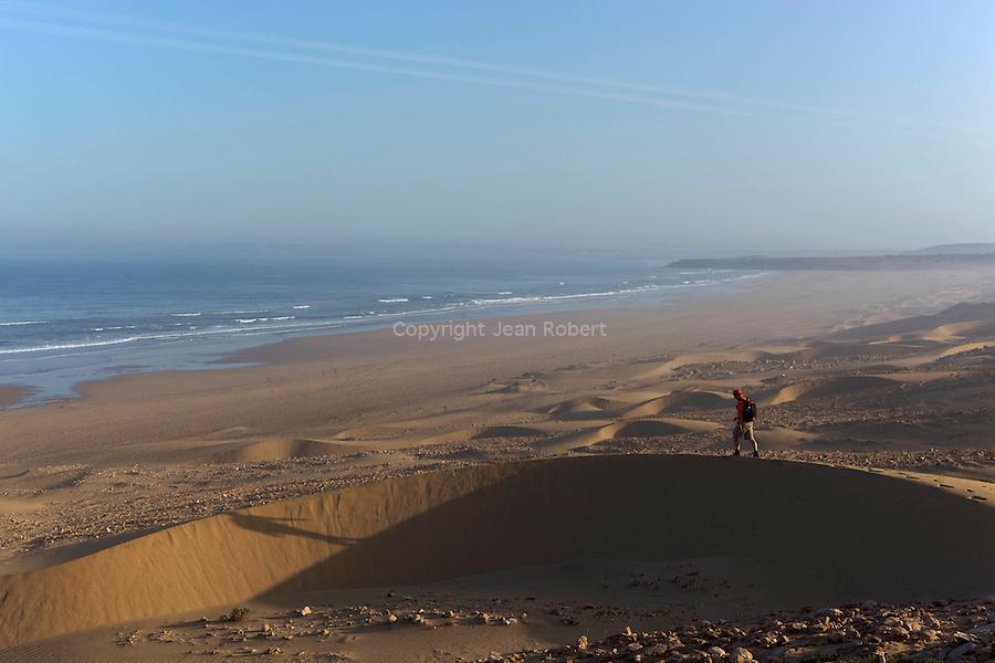 Sidi m'Barek, cascades et plages.Sidi m'Barek, waterfall and beachesrandonnée sur la cote atlantique maroc.plages et dunes de Sidi Kaouki.