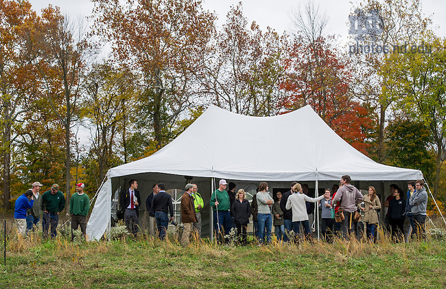 Oct. 16, 2014; ND LEEF Barn Raising Event at St. Patrick's Park in South Bend. (Photo by Barbara Johnston/University of Notre Dame)