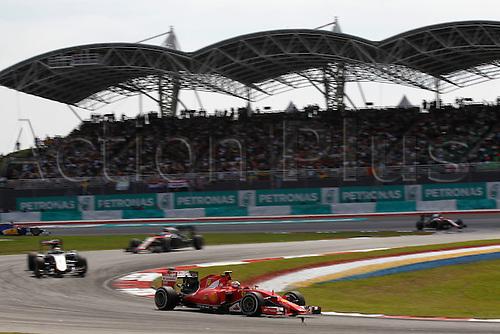 29.03.2015. Sepang, Kuala Lumpur, Malaysia. Formula One grand prix of Malayasia race day.  <br /> #7 Kimi Raikkonen (FIN, Scuderia Ferrari),