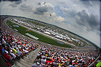 Apr 26, 2008; Talladega, AL, USA; The field of NASCAR Nationwide Series drivers go through the tri-oval during the Aarons 312 at the Talladega Superspeedway. Mandatory Credit: Mark J. Rebilas-