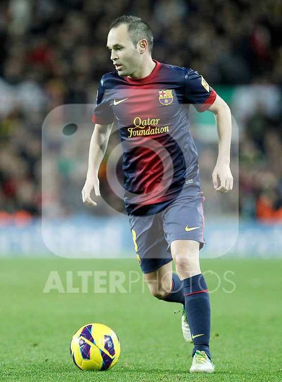 FC Barcelona's Andres Iniesta during La Liga match.December 16,2012. (ALTERPHOTOS/Acero)