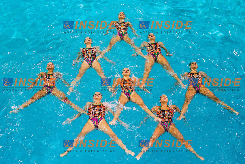 Egypt EGY<br /> 8th FINA Synchronised Swimming World Trophy <br /> Day02 Nov. 30 -  Team Free routine<br /> Mexico City 29 November - 1 December<br /> Photo G.Scala/Deepbluemedia.eu/Insidefoto