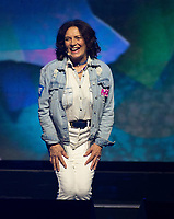 CHICAGO, IL: MAY 8: Margaret Trudeau speaks onstage during the 2019 WE DAY Illinois at the Allstate Arena on May 8, 2019 in Chicago, Illinois. <br /> CAP/MPI/ISDD<br /> ©MPIISDD/Capital Pictures