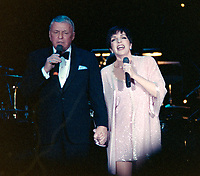 ARCHIVE: PALM SPRINGS, CA:  c.1991: Frank Sinatra & Liza Minnelli perform at the Frank Sinatra pro-celebrity golf tournament.<br /> File photo © Paul Smith/Featureflash