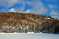 The Laurentians in winter<br /> Near Morin Heights<br /> Quebec<br /> Canada