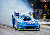 Jul 8, 2017; Joliet, IL, USA; NHRA funny car driver Tim Wilkerson during qualifying for the Route 66 Nationals at Route 66 Raceway. Mandatory Credit: Mark J. Rebilas-USA TODAY Sports`