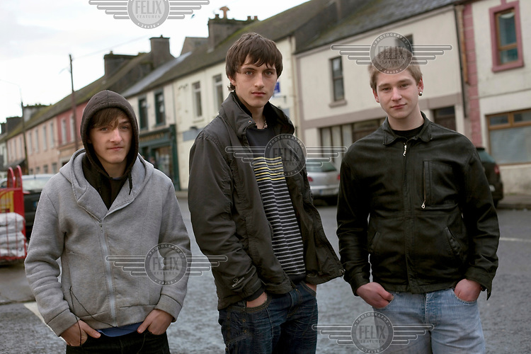 Youths in the town centre.