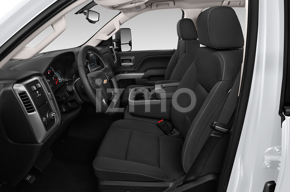Front seat view of a 2019 Chevrolet Silverado 2500 LT Crew Cab 4 Door Pick Up front seat car photos