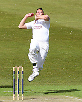 PICTURE BY ALEX WHITEHEAD/SWPIX.COM - Cricket - LV County Championship Match, Day 1 - Yorkshire vs Derbyshire - Headingley, Leeds, England - 29/04/13 - Yorkshire's Tim Bresnan delivers the ball.