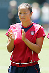 24 July 2005: U.S. defender Lorrie Fair, pregame. The United States defeated Iceland 3-0 at the Home Depot Center in Carson, California in a Women's International Friendly soccer match.
