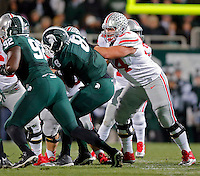 Ohio State Buckeyes offensive lineman Billy Price (54) against Michigan State Spartans at Spartan Stadium in East Lansing, Michigan on November 8, 2014.  (Dispatch photo by Kyle Robertson)