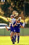 31 August 2007: University of Vermont Catamounts' Heidi Hassler, a Freshman from Westford, VT, in action against the University of Central Arkansas Sugar Bears at Historic Centennial Field in Burlington, Vermont. The Catamounts defeated the Sugar Bears 1-0 during the TD Banknorth Soccer Classic...Mandatory Photo Credit: Ed Wolfstein Photo