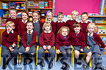 Enjoying their first day in Mrs O&rsquo;Carrolls class in Kilmoyley NS on Monday. <br /> Seated l-r, Max Deenihan, Amy Murnane, Zoe McCarthy, Saoirse Collins, Belle Lawlor and Orna McKenna.<br /> Back l-r, Robbie Conway, Erin Kirby-Lynch, Maisie Rose Cahill, Ellie Hunt, Ciaran Sheehy, Noah Hunt and Timothy O&rsquo;Connor.