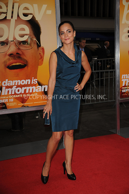 WWW.ACEPIXS.COM . . . . . ....September 15 2009, New York City....Alice Braga arriving at the 'The Informant' benefit screening at the Ziegfeld Theatre on September 15, 2009 in New York City.....Please byline: KRISTIN CALLAHAN - ACEPIXS.COM.. . . . . . ..Ace Pictures, Inc:  ..tel: (212) 243 8787 or (646) 769 0430..e-mail: info@acepixs.com..web: http://www.acepixs.com