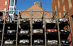 cars , nyc , parking, steel frame<br /> ny ,head, light, lite, headlight,