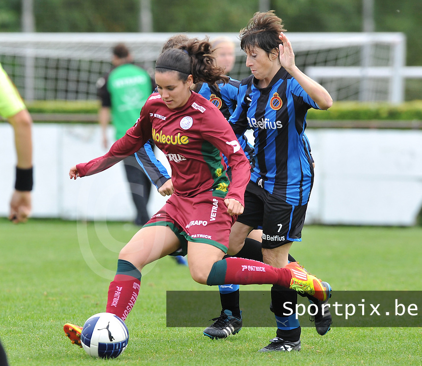 Club Brugge Dames - Dames Zulte Waregem : Pauline Crammer voor Ingrid De Rycke.foto DAVID CATRY / Vrouwenteam.be