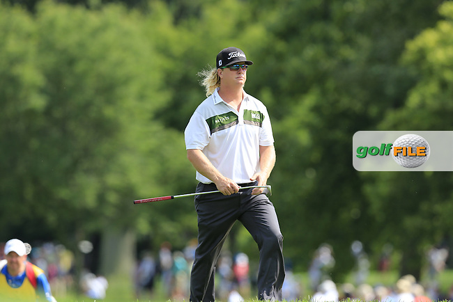 Charley Hoffman (USA) walks onto the 6th green during Thursday's Round 1 of the 95th US PGA Championship 2013 held at Oak Hills Country Club, Rochester, New York.<br /> 8th August 2013.<br /> Picture: Eoin Clarke www.golffile.ie