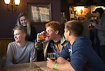 Oxford Uk. Wednesday 1st May 2013.  University students enjoy a May Morning drink.