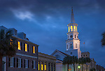 Charleston, South Carolina, Broad Street, Saint Michael's Episcopa Church, Oldest In Charleston, National Historic Landmark, Colonial America