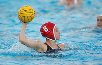 Stanford - February 1, 2015: Jamie Neushul during the Stanford vs UCLA title match of the 2015 Stanford Invitational at Avery Aquatic Center on Sunday afternoon.<br /> <br /> The Cardinal defeated the Bruins 9-5.