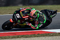 SCARPERIA,FLORENCE, ITALY - JUNE 02:,2017 Johann Zarco of France and Monster Yamaha Tech 3 in action  during Free Practice MotoGP Gran Premio d'Italia- at Mugello Circuit. on june 02, 2017 in Scarperia Italy.<br /> Photo Marco Iorio/Insidefoto