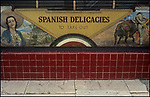Store front design of the old Spanish Kitchen restaurant on Beverly Blvd. in Los Angeles, CA. March 1978