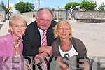Waiting to happen: Cllr Denis Stack with members of the Listowel Presentation Convent Parent's Council Fiona Stapleton and Martina Ryan-Leahy, who say the Convent Cross in the town will see an accident soon if the roundabout is not put in place.   Copyright Kerry's Eye 2008