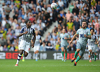 West Bromwich Albion's Nathan Ferguson vies for possession with Blackburn Rovers' Adam Armstrong<br /> <br /> Photographer Kevin Barnes/CameraSport<br /> <br /> The EFL Sky Bet Championship - West Bromwich Albion v Blackburn Rovers - Saturday 31st August 2019 - The Hawthorns - West Bromwich<br /> <br /> World Copyright © 2019 CameraSport. All rights reserved. 43 Linden Ave. Countesthorpe. Leicester. England. LE8 5PG - Tel: +44 (0) 116 277 4147 - admin@camerasport.com - www.camerasport.com