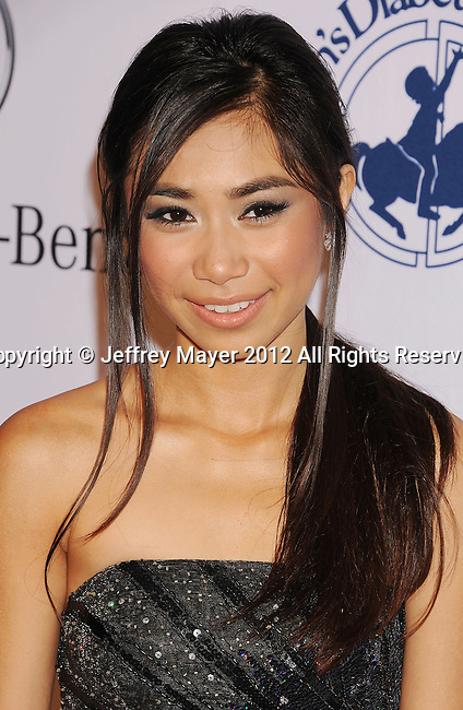 BEVERLY HILLS, CA - OCTOBER 20: Jessica Sanchez arrives at the 26th Anniversary Carousel Of Hope Ball presented by Mercedes-Benz at The Beverly Hilton Hotel on October 20, 2012 in Beverly Hills, California.