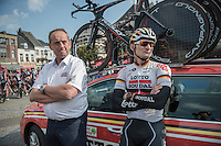 André Greipel (DEU/Lotto-Soudal) & DS Herman Frison ahead of the TTT recon<br /> <br /> 12th Eneco Tour 2016 (UCI World Tour)<br /> stage 5 (TTT) Sittard-Sittard (20.9km) / The Netherlands
