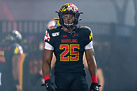 College Park, MD - SEPT 27, 2019: Maryland Terrapins defensive back Antoine Brooks Jr. (25) before game between Maryland and Penn State at Capital One Field at Maryland Stadium in College Park, MD. (Photo by Phil Peters/Media Images International)