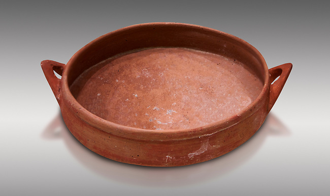 Hittite terra cotta bowl. Hittite Old Period, 1650 - 1450 BC.  Hattusa Boğazkale. Çorum Archaeological Museum, Corum, Turkey