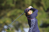 Marina Alex (USA) on the 2nd tee during Day 3 Singles at the Solheim Cup 2019, Gleneagles Golf CLub, Auchterarder, Perthshire, Scotland. 15/09/2019.<br /> Picture Thos Caffrey / Golffile.ie<br /> <br /> All photo usage must carry mandatory copyright credit (© Golffile | Thos Caffrey)