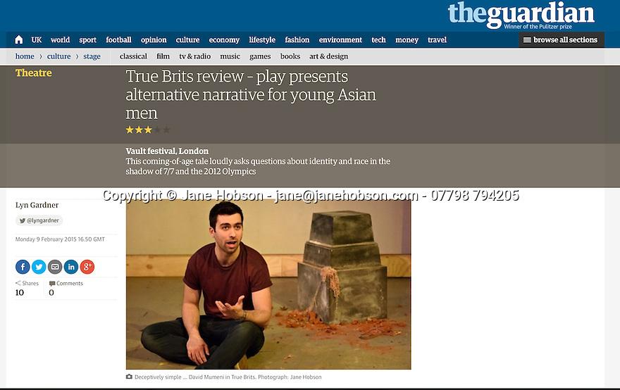 True Brits, Guardian, the Vaults, 09.02.15