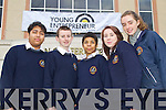 Students from Scoil Pholbail Sliabh Luachra, pictured at the Young Entrepreneur Business Boot Camp in the Brandon Hotel, Tralee on Friday, from left: Affian Arif, Liam Whitford, Curtis Mason, Mairead Fleming and Caroline Dineen.