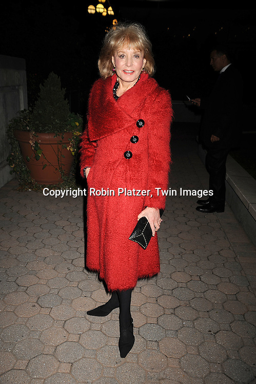 Barbara Walters..at The ABC Daytime Casino Event on October 23, 2008 at ..Guastavinos in New York City. ....Robin Platzer, Twin Images