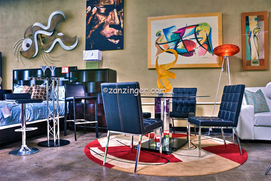 Noho Modern Furniture Retail Store Colorful Unique David Zanzinger Fine Art Stock Photography