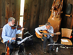 Gil Gutierrez (Guitar) and Bob Stern (violin) performing at Opus 40, in Saugerties, NY, on May 9, 2015. Photo by Jim Peppler. Copyright Jim Peppler 2015.