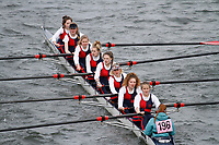 Crew: 196  Norwich High Sch  Event: Girls School 1st eights<br /> <br /> Schools' Head of the River 2017<br /> <br /> To purchase this photo, or to see pricing information for Prints and Downloads, click the blue 'Add to Cart' button at the top-right of the page.