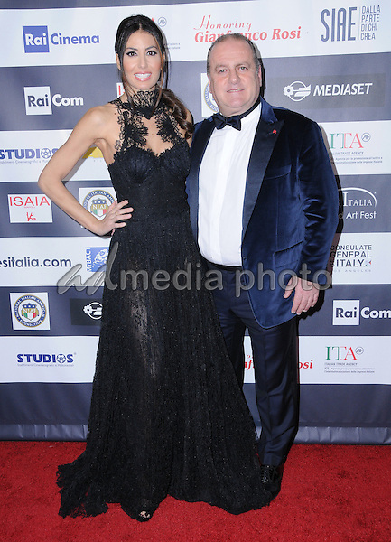 19 February 2017 - Hollywood, California - Elisabetta Gregoraci, Pascal Vicedomini.  12th Annual Los Angeles - Italia Film Festival held at TCL Chinese 6 Theater. Photo Credit: Birdie Thompson/AdMedia