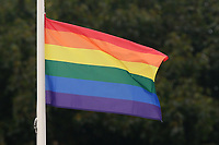 A rainbow flag flies over the ground during Essex Eagles vs Middlesex, NatWest T20 Blast Cricket at The Cloudfm County Ground on 11th August 2017