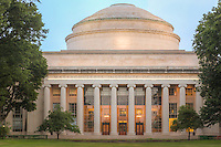 The landmark Building 10 and its Great Dome overlooking Killian Court on the campus of the Massachusetts Institute of Technology in Cambridge, Massachusetts.