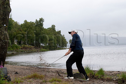 LOCH LOMOND SCOTLAND. 11-07-2010. Martin Laird (GBR) in action during the final day of the PGA European Tour, Barclays Scottish Open part of The Race to Dubai Tournament.