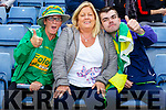 Noranne, Ann and Paud McCarthy supporting Lixnaw at the County Hurling Finals in Austin Stack Park on Sunday.