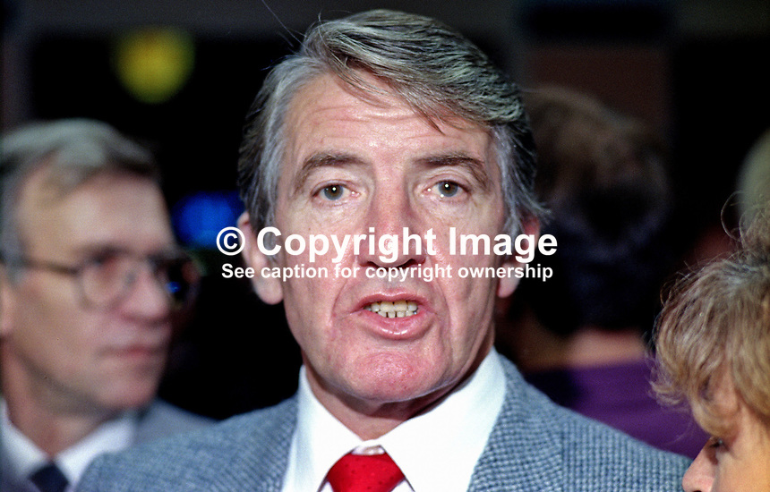 Dennis Skinner, MP, Labour Party, Bolsover, UK, 19901004006.<br />