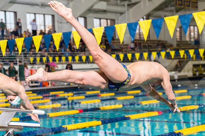 The University of Michigan men's swim and dive team; 173-93,victory over MSU at Canham Natatorium in Ann Arbor, Mich., on Feb. 06, 2016.
