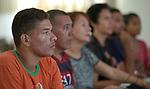 Refugees from Venezuela participate in a Portuguese class in a Jesuit-run program in Boa Vista, Brazil.