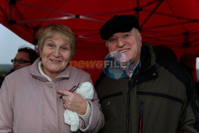 Mary and Brian Smith at the Julianstown community garden<br /> Picture: Fran Caffrey www.newsfile.ie